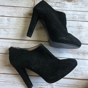 14th & Union Black Suede Booties 11